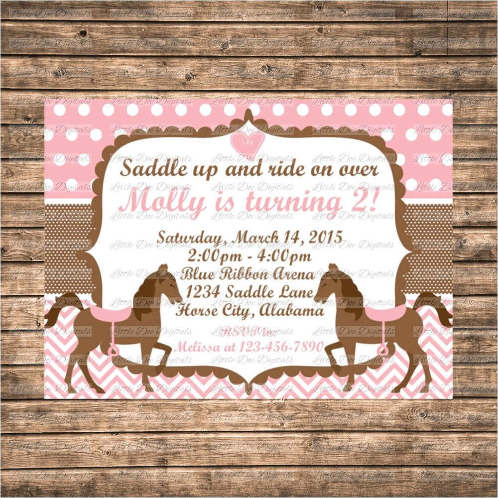 personalized pink and brown horse themed ref market
