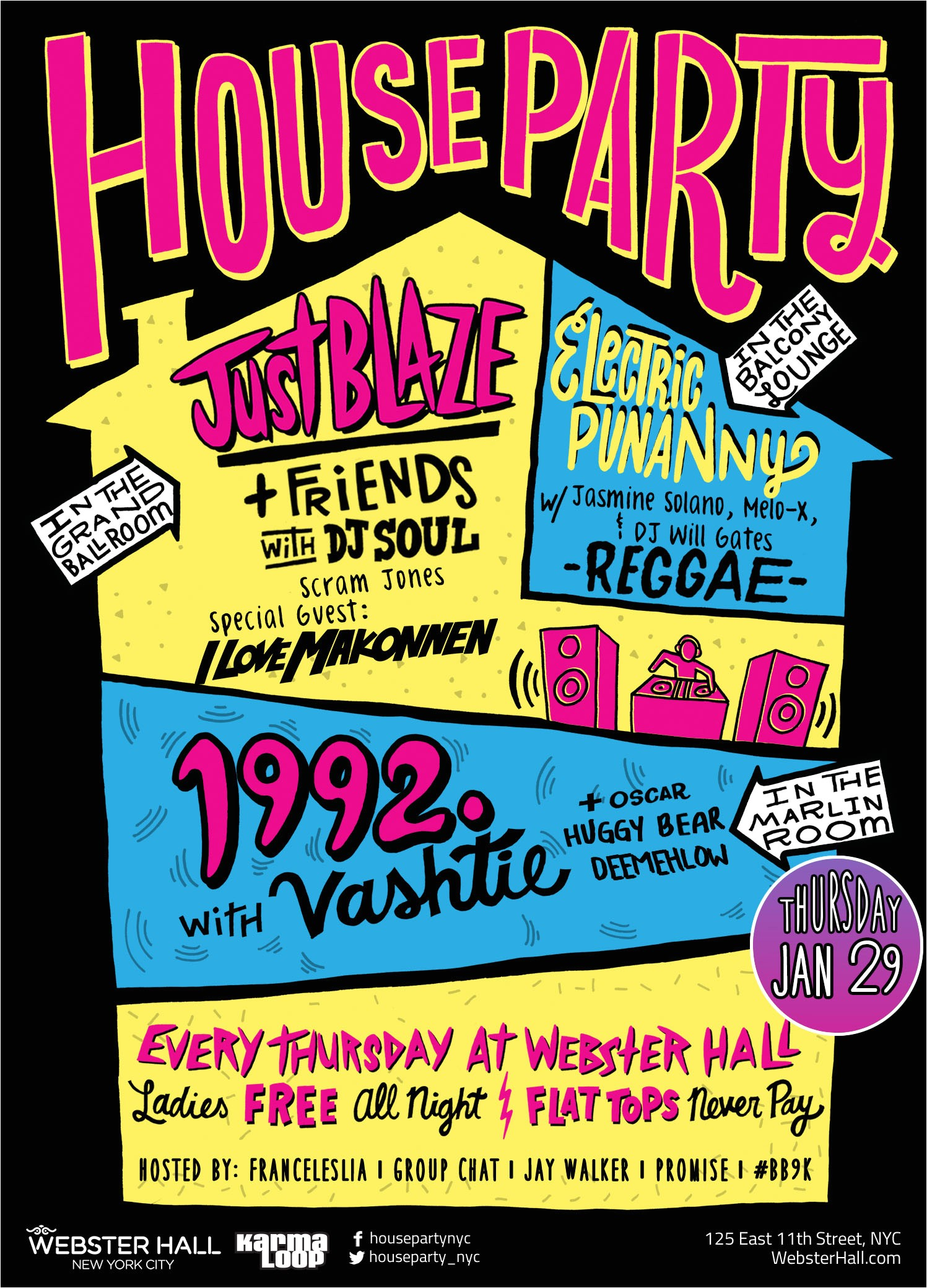 invite 1992 party webster hall x house party ilovemakonnen