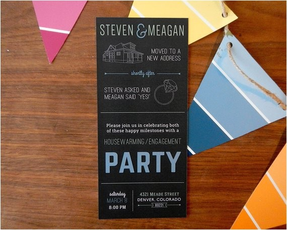 housewarming engagement party invitation