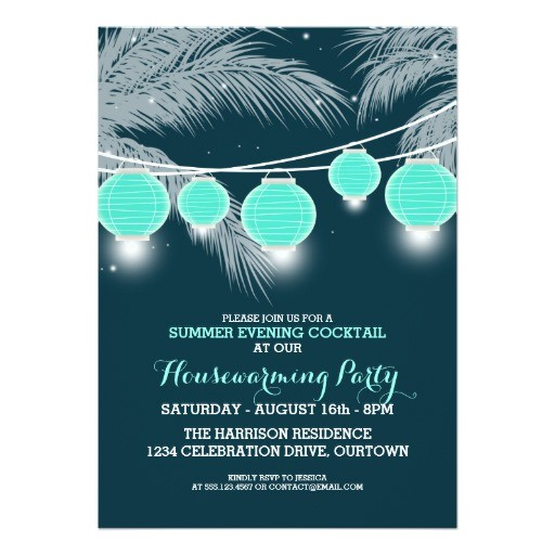 Housewarming Cocktail Party Invitations Summer Housewarming Cocktail Party Invitations Zazzle