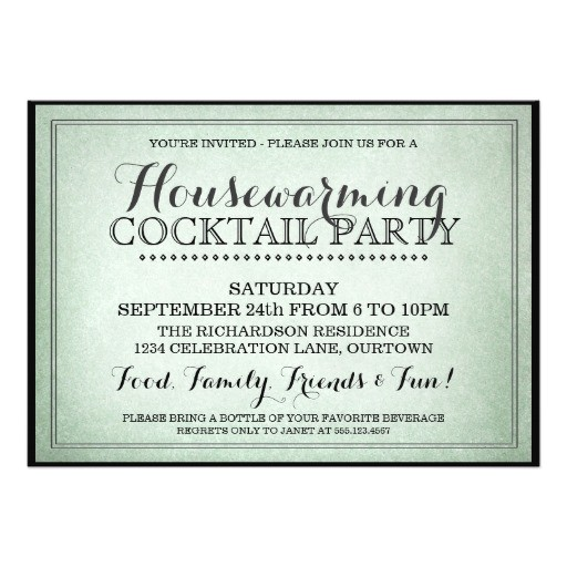 vintage housewarming cocktail party invitation 161423537712252750