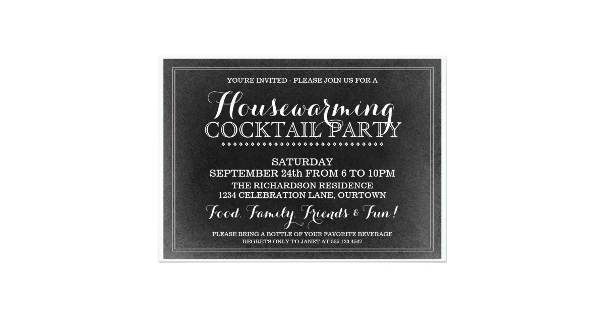 vintage housewarming cocktail party invitation 161309631994638807
