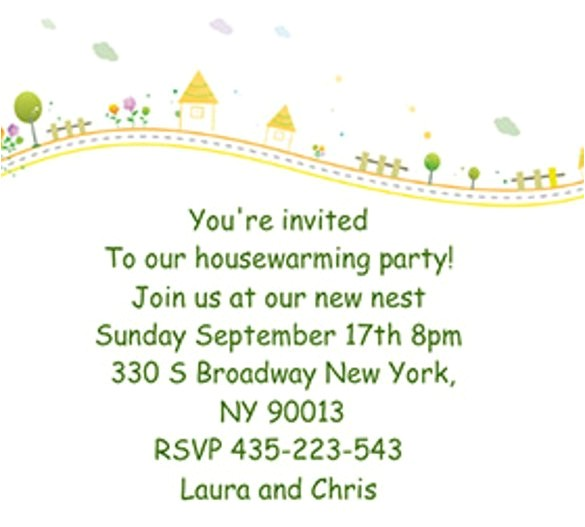 sample housewarming invitation