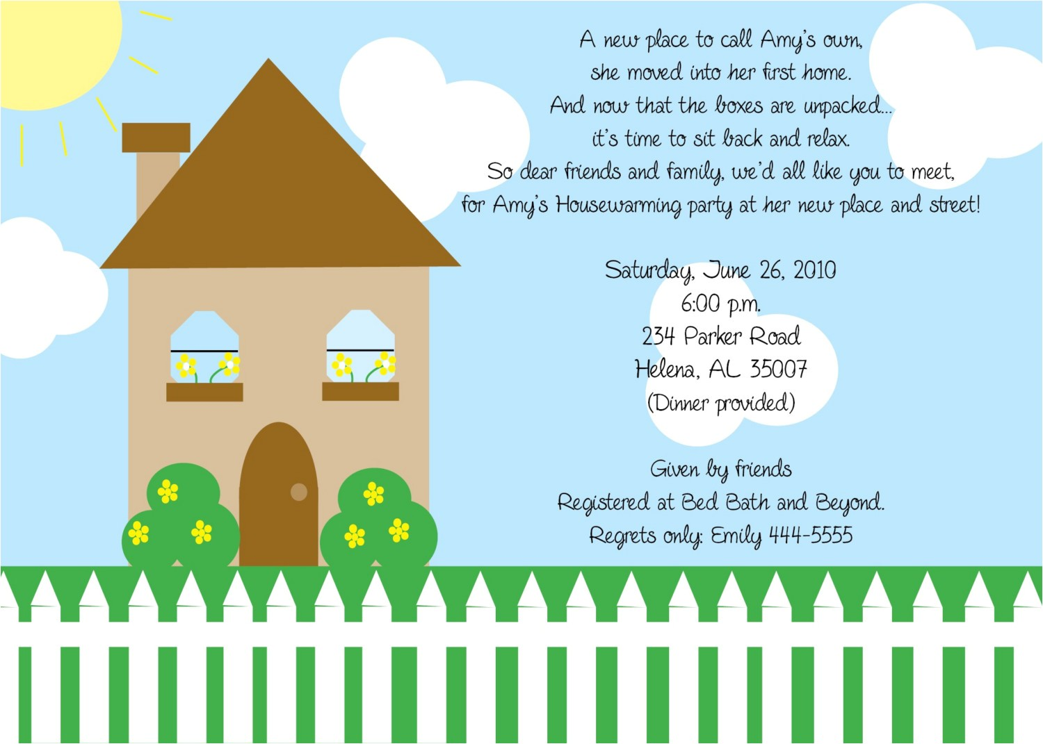 house warming invitation letter
