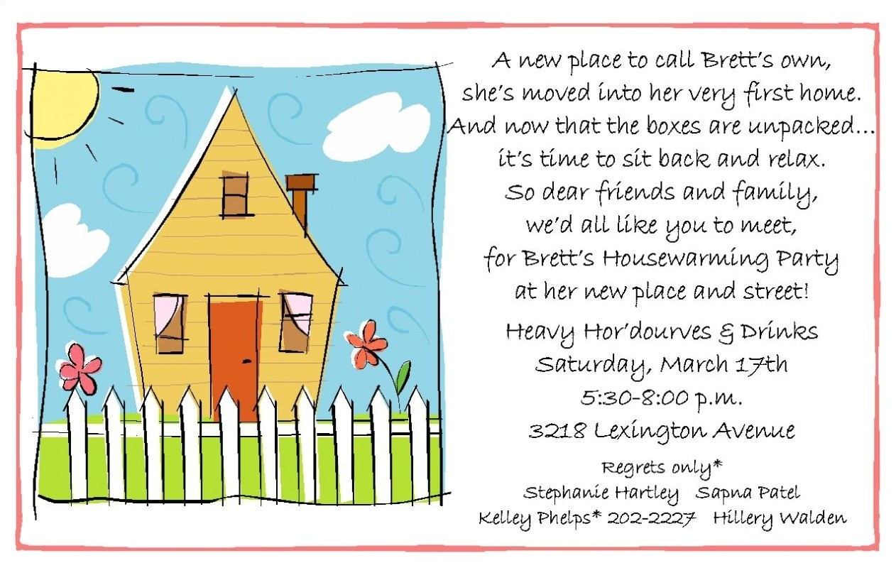 housewarming invitations wording template