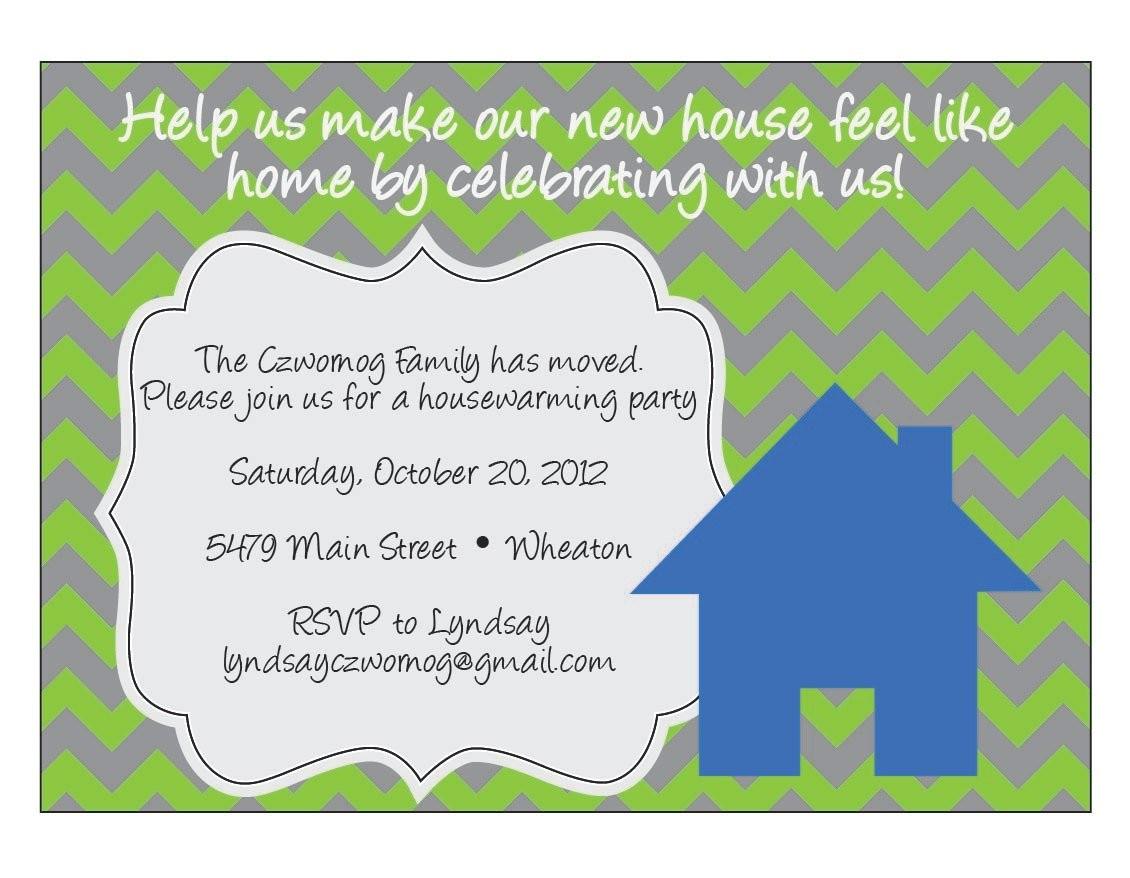 chevron housewarming invitation