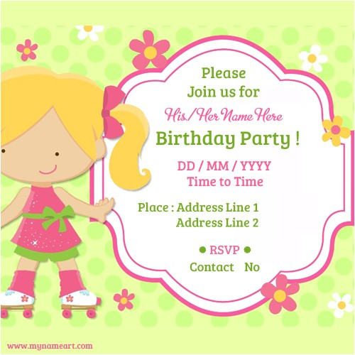 kids birthday party invitations cards
