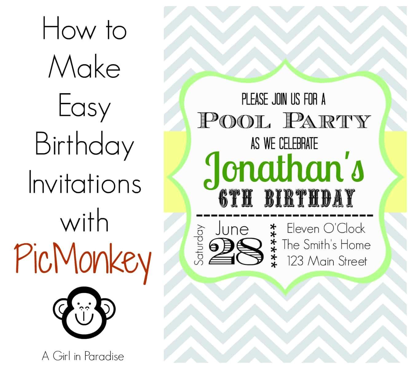 unique ideas for make birthday invitations templates