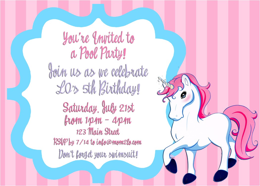 writing a birthday invitation