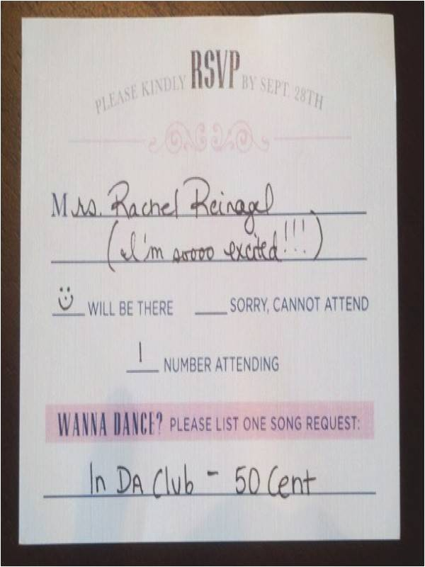 how to fill out a rsvp wedding invitation