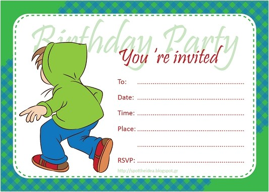 fill in birthday invitations