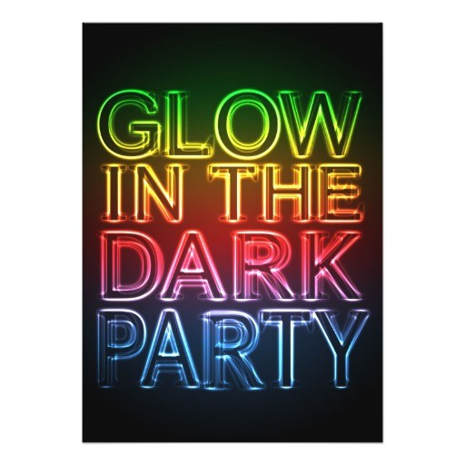 glow party glow in the dark birthday party 5x7 paper invitation card 256134993369777476