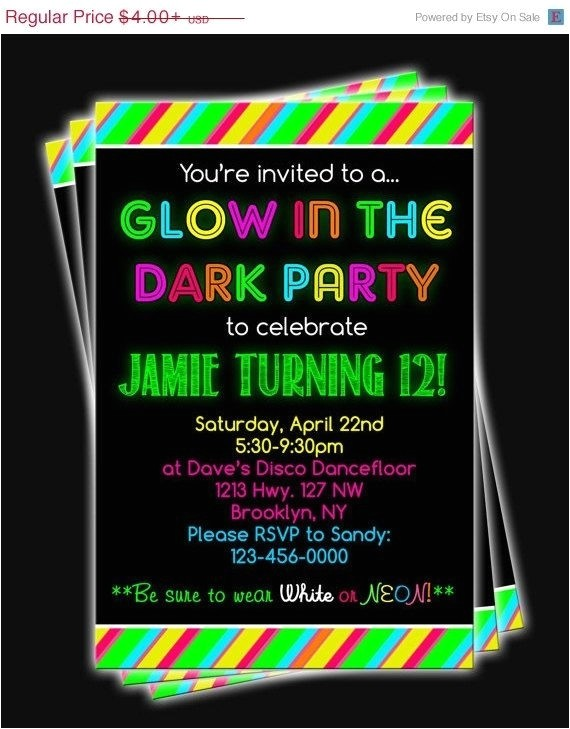 how to make glow in the dark party invitations 010517296