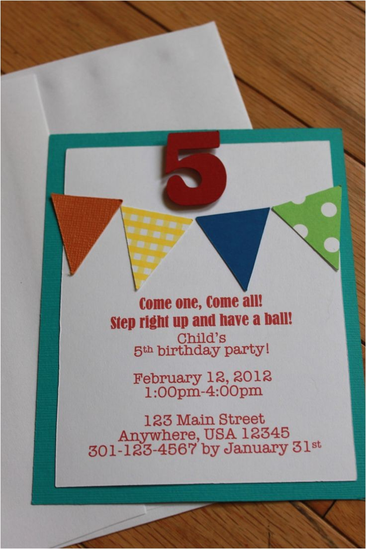 homemade birthday party invitation ideas 17 best ideas about carnival birthday invitations on pinterest