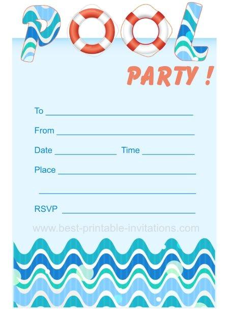 pool party invites