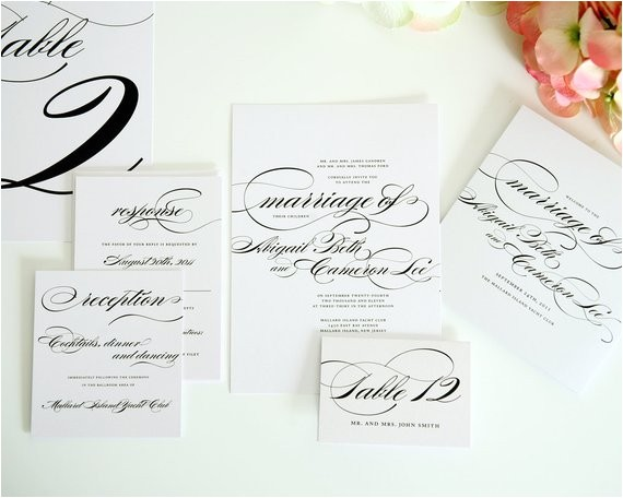complete wedding invitation package