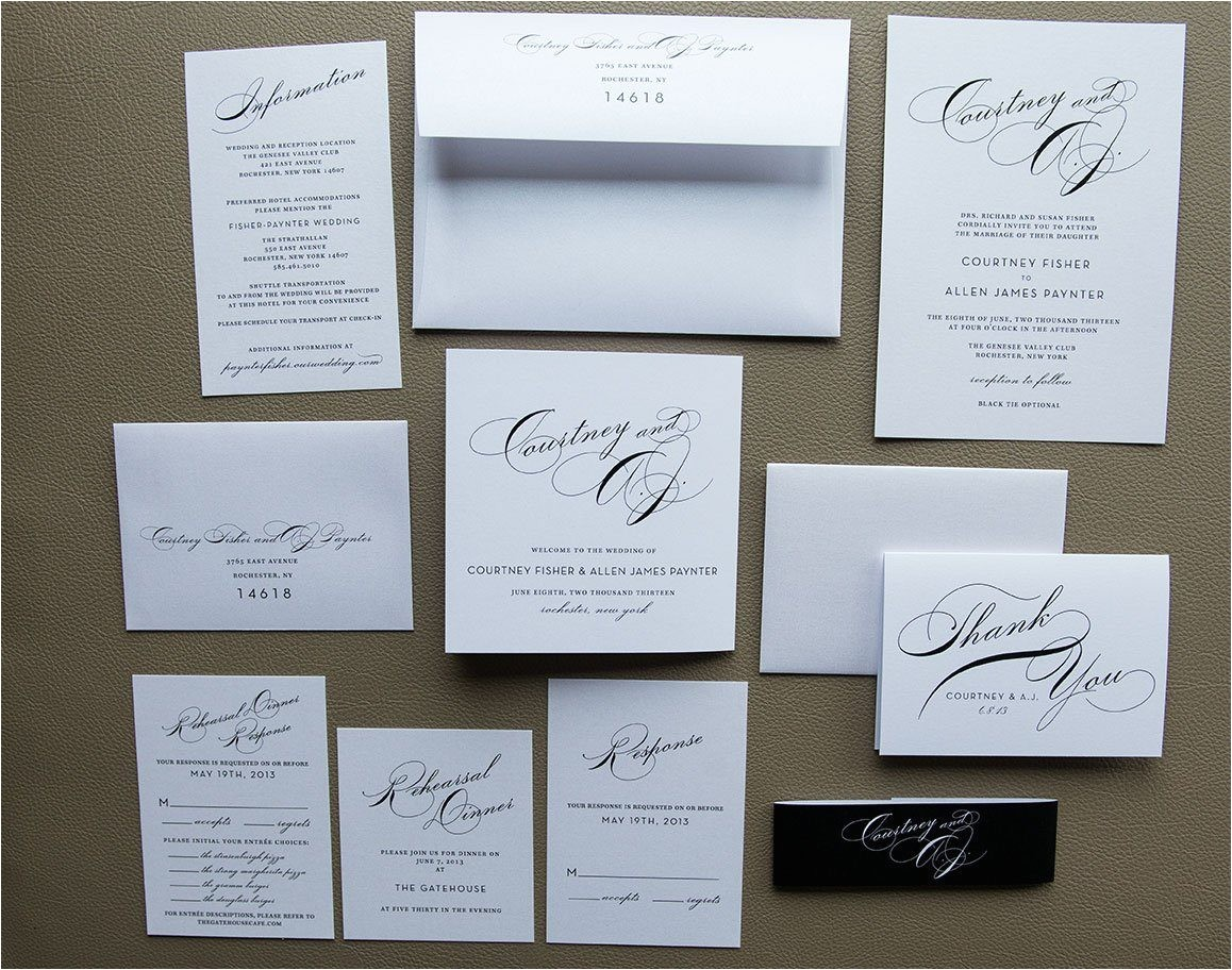 simple wedding invitation package