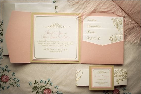 wedding invitation package floral