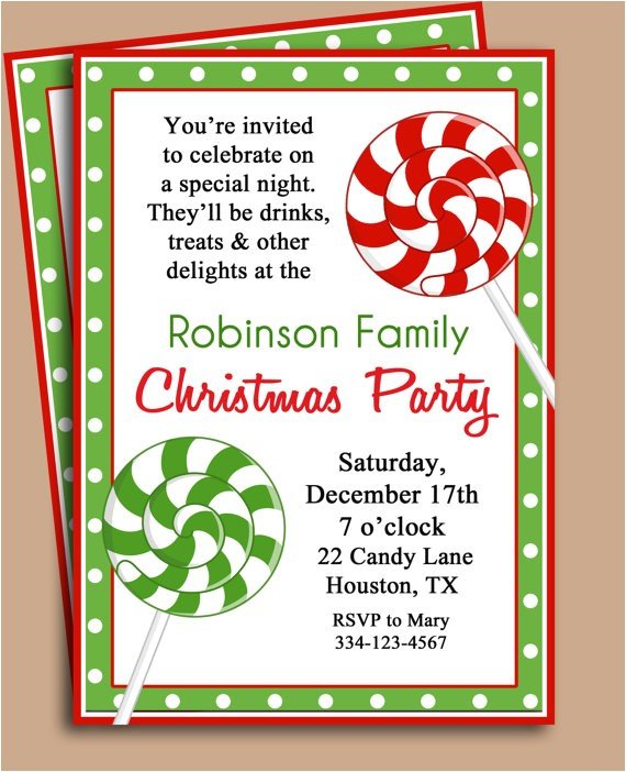 christmas party invitation wording template
