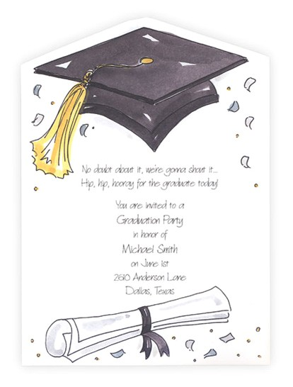 graduation party invitation wording ideas