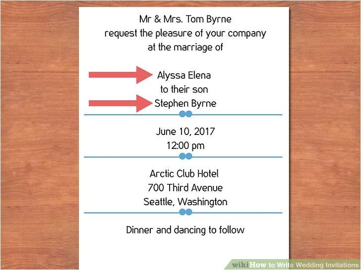 write wedding invitations