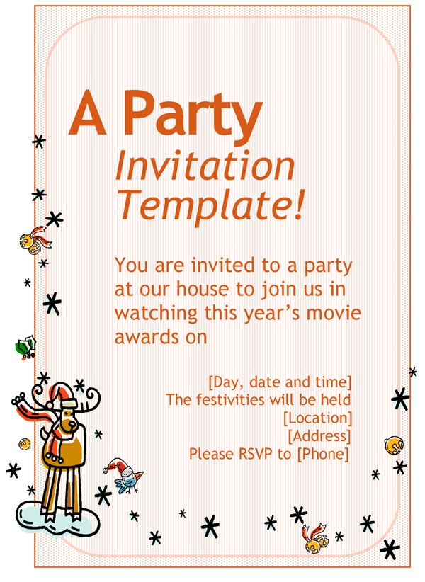 how to write an invitation to a party invitation template
