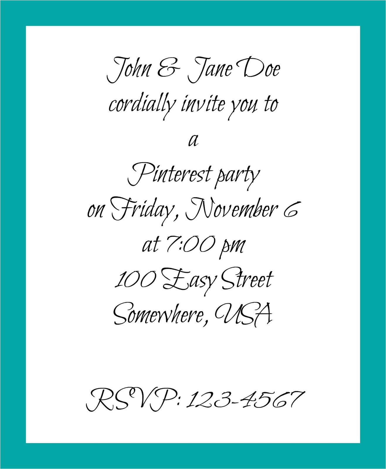 hostessing how to write invitation free