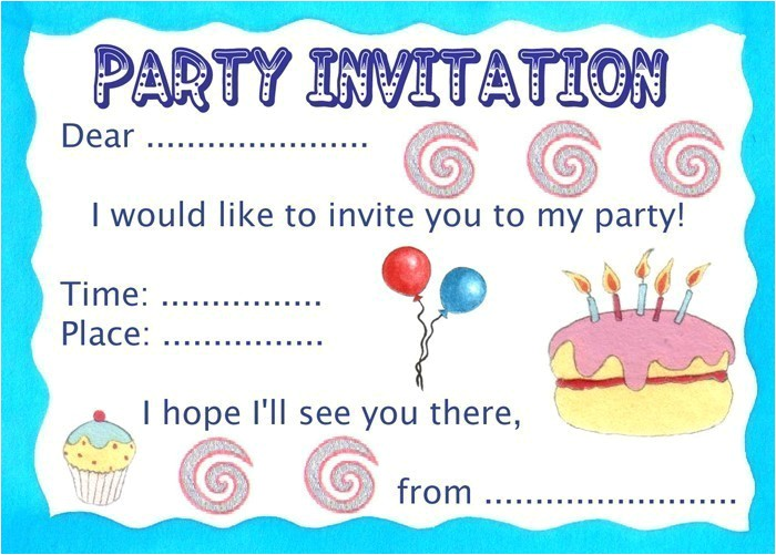 party invitation basic 2