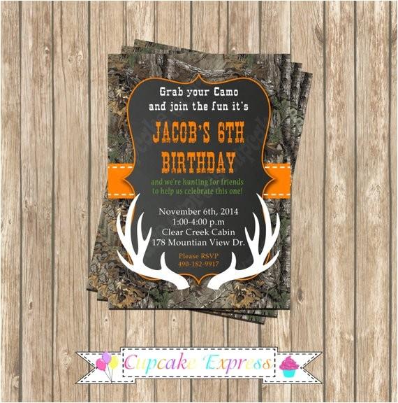 camo boy hunting deer 4 birthday party