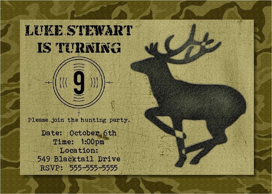 hunting birthday party invitation
