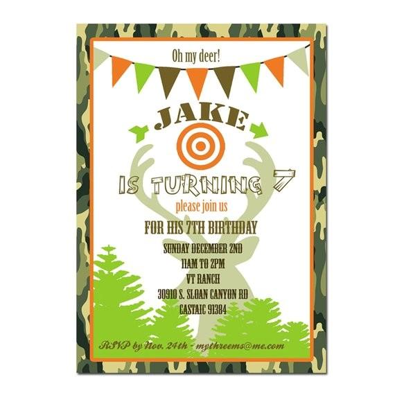 hunting party invitation hunting