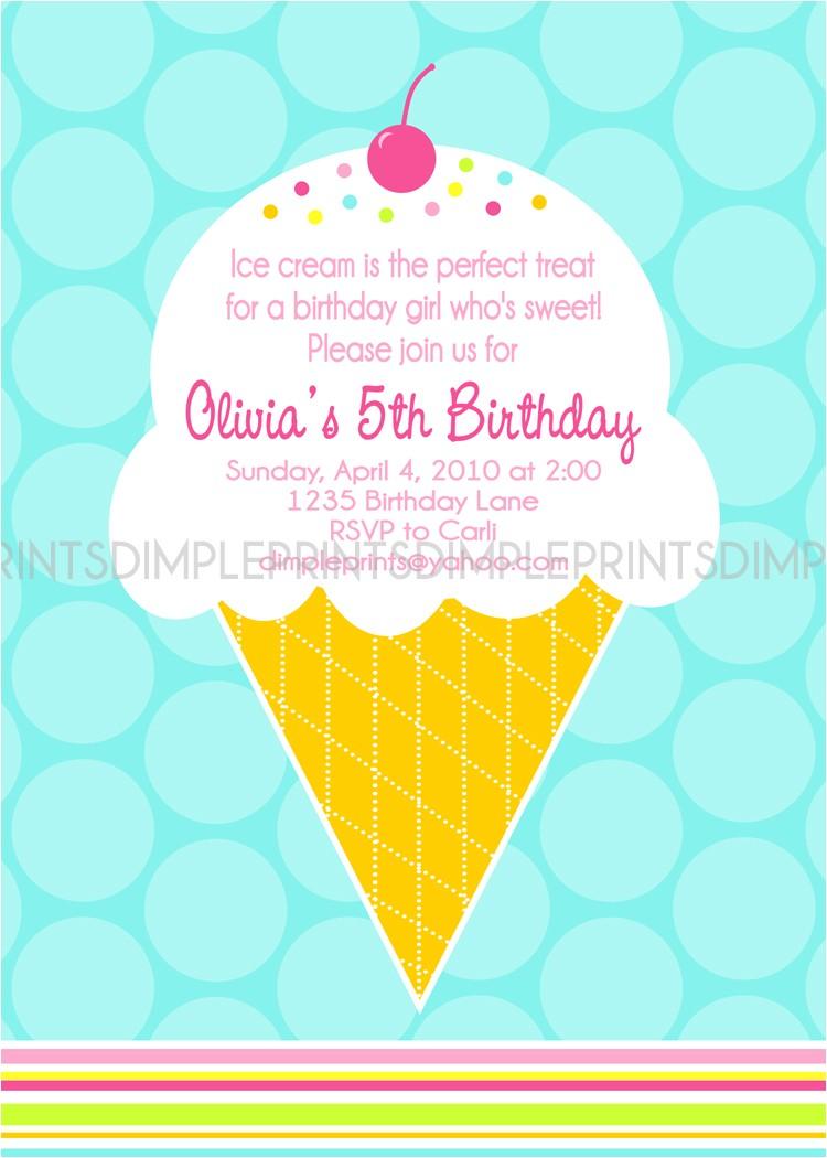 ice cream cone invite