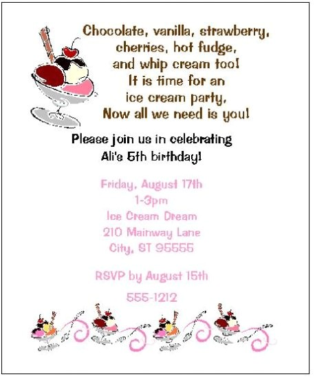 8 personalized ice cream sundae party