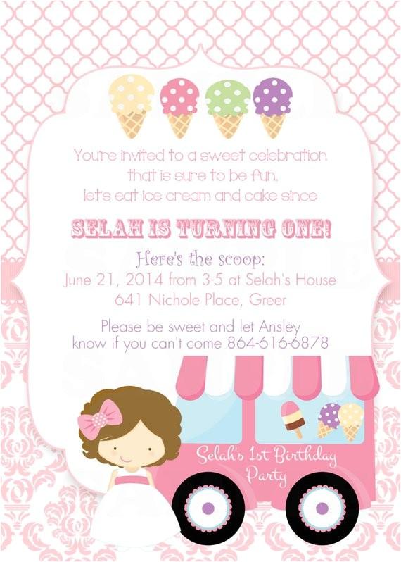 girls ice cream birthday party theme