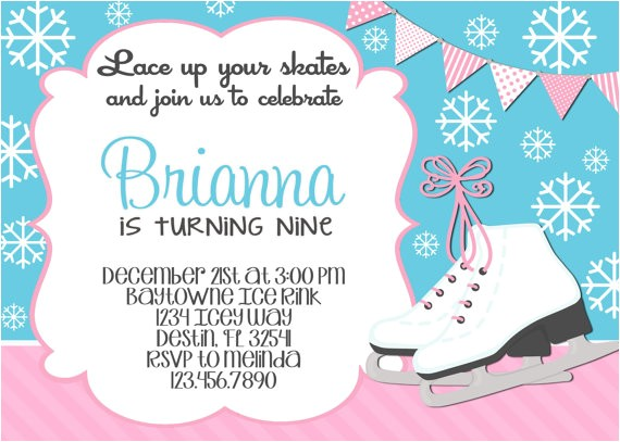 ice skating birthday invitations and the invitations of the birthday invitation templates to the party sketch with cool idea 2