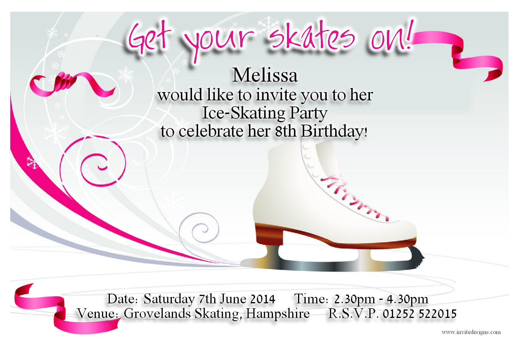 Ice Skating Party Invitations Free Printable Best Photos Of Ice Skating Party Invitation Templates