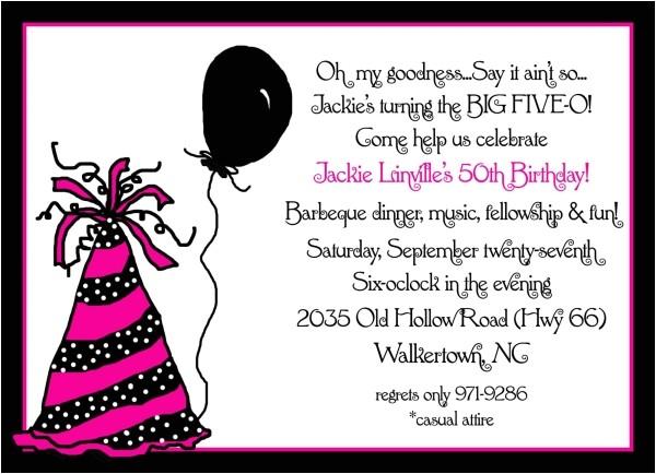 invitation 50th birthday party