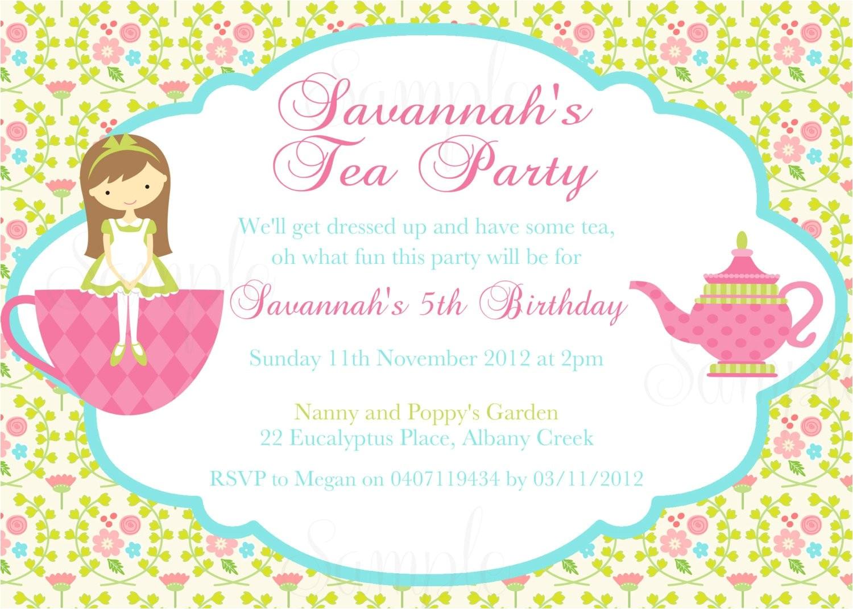 tea party birthday theme printable