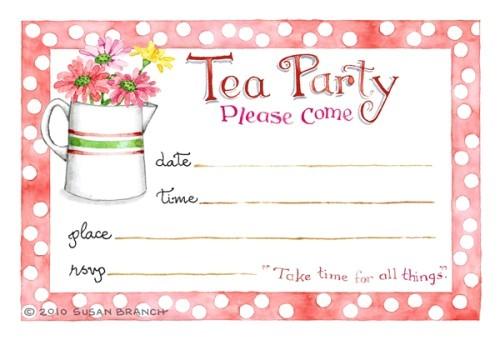 tea party invitation 2