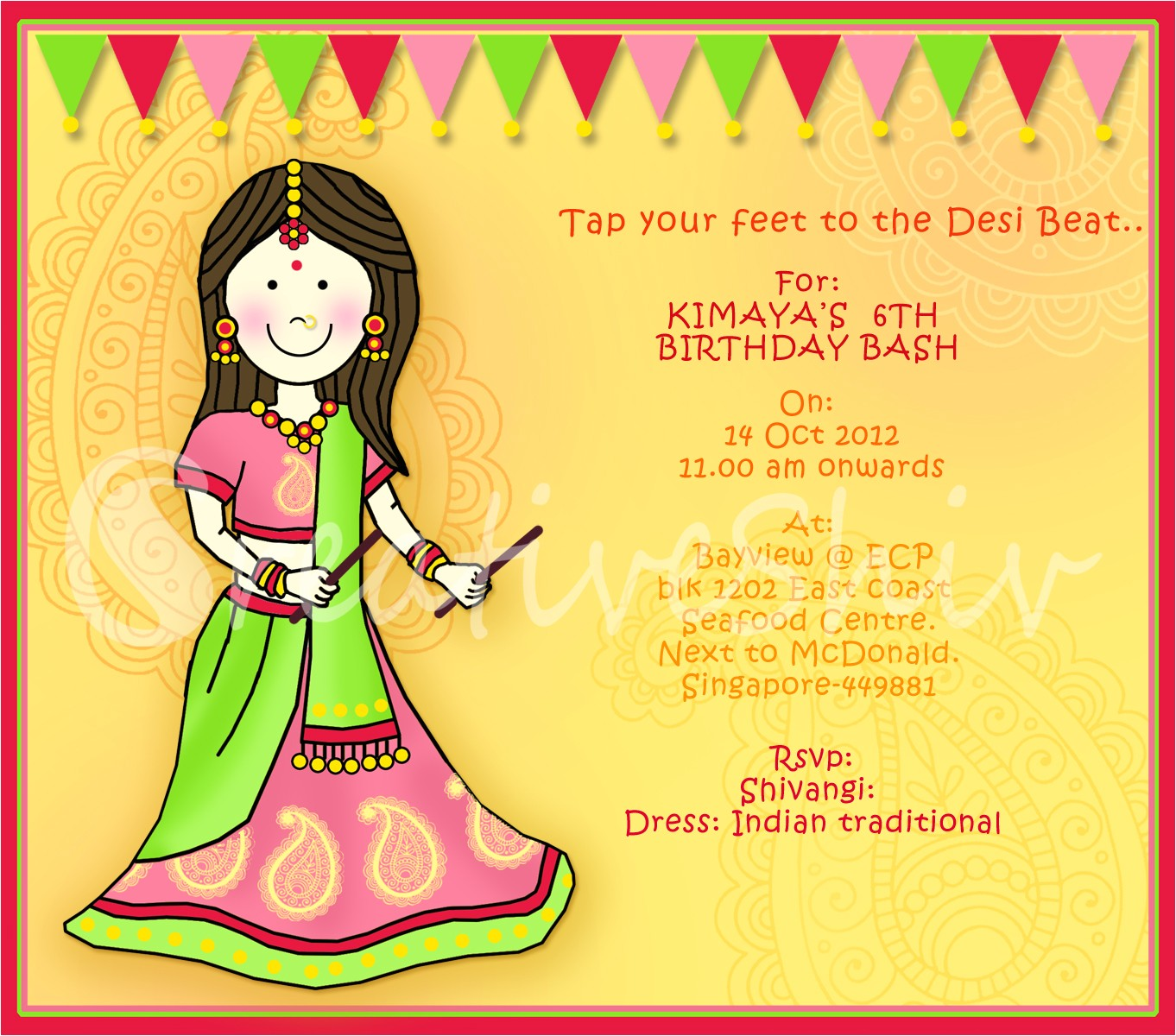 indian theme birthday party