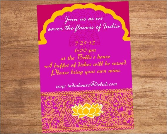 india indian food party invitation