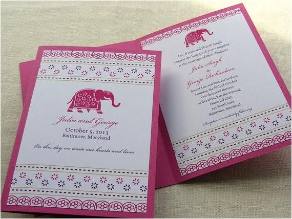 indian invitation decorated elephant