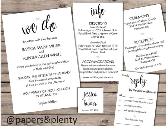 wedding invitation inserts