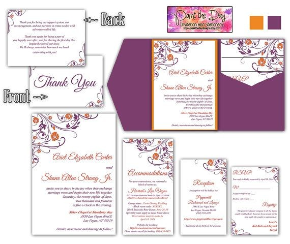 wedding invitation insert