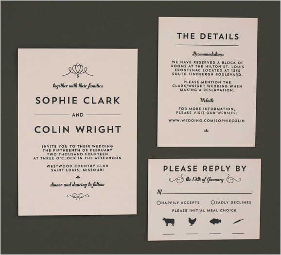 wedding invite wordingmodern deco invitation suite 578px