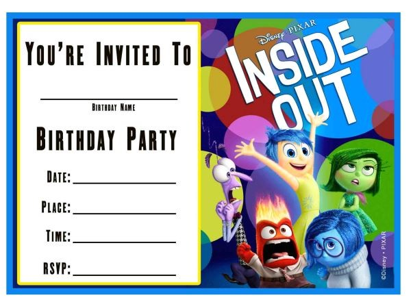 Inside Out Party Invitations Free Inside Out Printable Party Decoration Pack