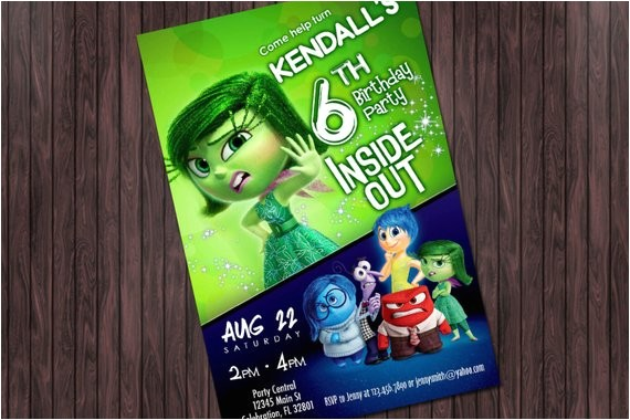 inside out disgust printable birthday
