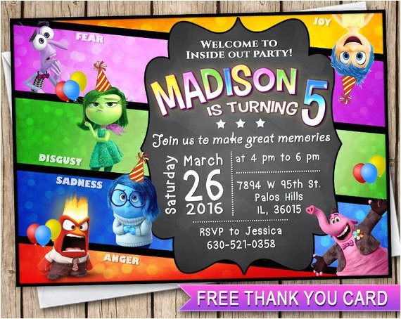 inside out invitation birthday card free