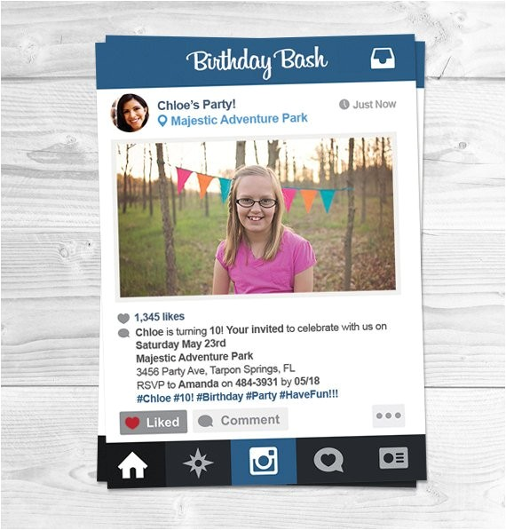 instagram birthday party invitations