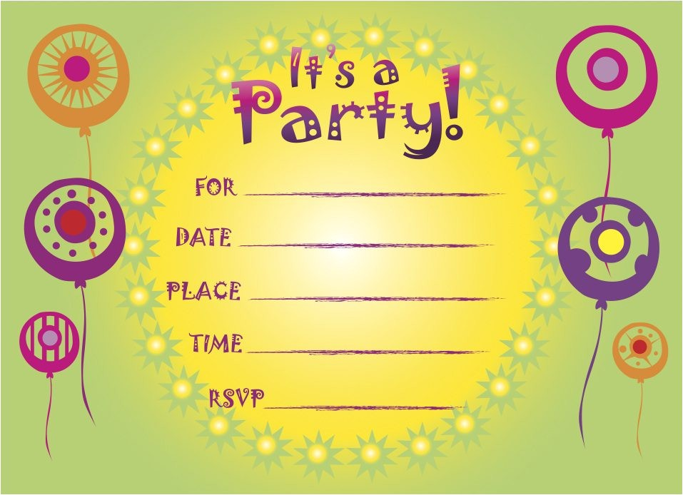 free printable party invitations online